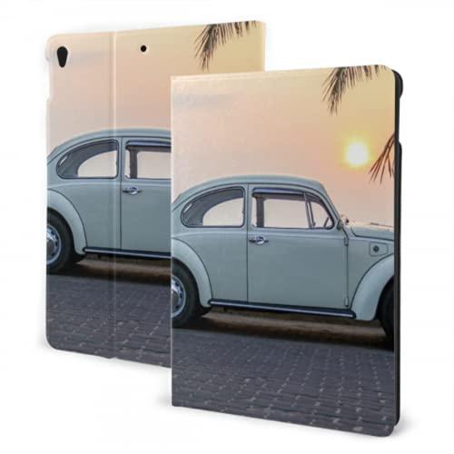 JOCHUAN Carcasa roja de Verano para Coche en la Playa para protección de iPad Compatible con iPad Air3 Pro / 7th 10,2 Pulgadas 10,5 Pulgadas con activación/suspensión automática