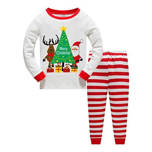 Garsumiss Niña Niños Bebé Xmas Pijama Sleepwear Conjunto de Pijama de Manga Larga Niño Navidad Pijama Santa Claus Patrón