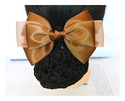 YUNGYE Mode Main Bureau Lady Bow Tie Barrette Barrette Couverture Bowknot Snood Cheveux Accestory (Color : F)