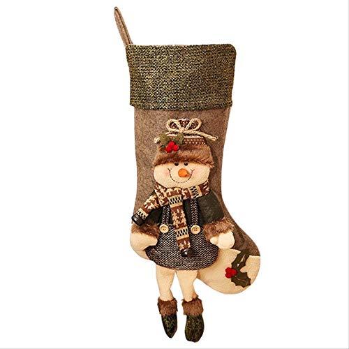 ECXJWLUH Persönlichkeit Mit Beinen Große Weihnachtsstrümpfe Geschenktüte Kinder Weihnachten Süßigkeiten Tasche Dreidimensionale Kreative Geschenksocken
