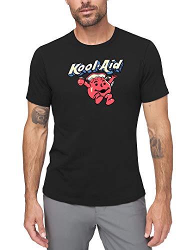 SHICHUOU Men's Kool Aid Old Logo Short Sleeve Classic T Shirt Black XXX-Large