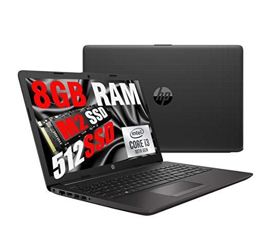 Portátil HP 255 G8 Silver Slim, Full HD, 15,6pulgadas, CPU AMD Ryzen 3 3250U hasta 3,5 GHz, RAM 8GB DDR4, SSD M2 Nvme 256 GB, Radeon, HDMI RJ-45, wifi, Bluetooth, USB tipo C, Windows 10 Pro 64bits