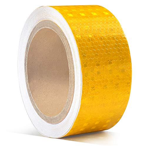 5cm x 10m Reflektorband Klebeband, ONTWIE Reflektierender Klebebandaufkleber Selbstklebende Sicherheit Warnklebeband Conspicuity Nacht Reflektor Streifen Tape Film Aufkleber für Sicherheit Warnung