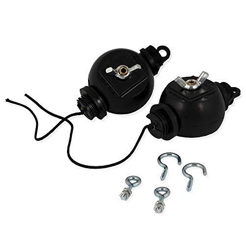 Zelsius Easy Rolls (2 Stück) | Stufenlose Lampenaufhängung | Belastbar bis 6 kg je Rolle | Für Lampen Reflektoren Ventilatoren Lüfter