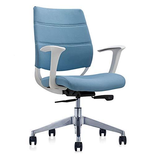 Kantoorstoel Kunstleer Executive stoel in hoogte verstelbare bureaustoel Europese stijl size Lichtblauw