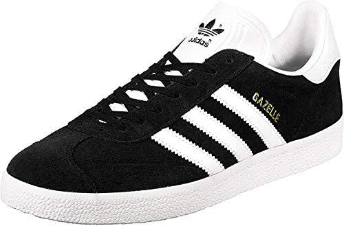 adidas Gazelle, Zapatillas de deporte Unisex Adulto, Varios colores (Core Black/White/Gold Metalic), 44 EU