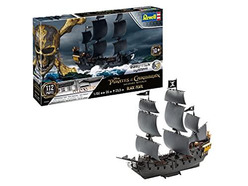Revell- Black Pearl of The Caribbean Maqueta Piratas de los Caribeños La Vengeance de Salazar, 10+ Años, Multicolor, 26,0 cm de Largo (05499)