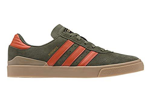 adidas Skateboarding Busenitz Vulc, Base Green-raw Amber-Gum, 3,5