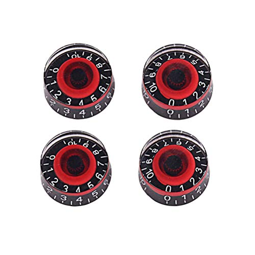 HEALLILY 4 unids Acrílico Efecto Pedal Amplificador de Control Perillas para accesorios...