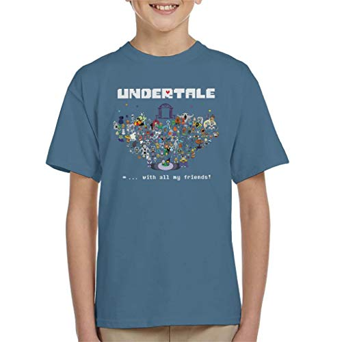 Cloud City 7 Undertale with All My Friends Kid's T-Shirt