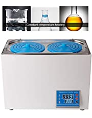 Laboratorio de Baño de agua termostático digital Baño de agua de laboratorio Acero inoxidable 0.01 ℃ Resolución Baño de agua a temperatura constante con aberturas seleccionables para lab comercial