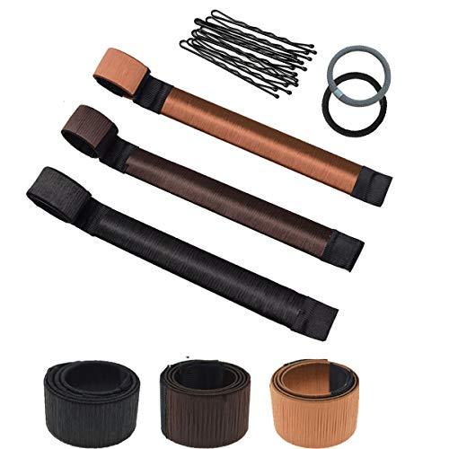 Chignon Facile Per Capelli, Bofekt Accessori Capelli Ciambelle per Chignon Hair magic capelli 3 coloriragazza Clip Hairstyle
