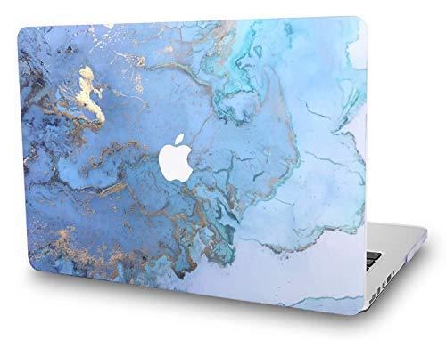 L2W Funda MacBook Pro 13 Pulgadas con Pantalla Retina (Lanzado en 2012~2015) Modelo A1502/A1425 Plástico de Impresión Protección Rígida el Patrón Cover con Relieves,Diseño de Mármol Azul