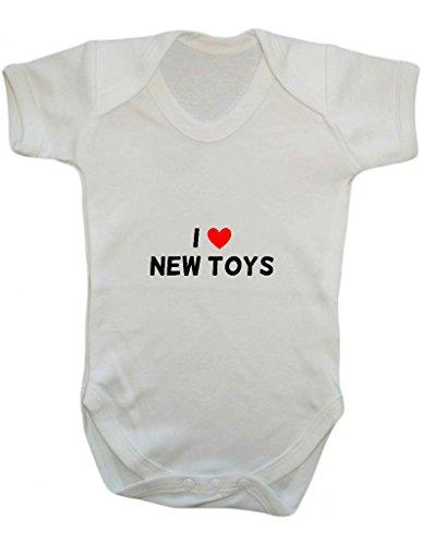 I Love (corazón) Cheeky diseño de declaración nuevos juguetes una pieza Babygrow chaleco blanco blanco Talla:0-3 Meses