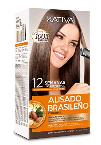 Kativa Keratin And Argan Oil Brazilian Straightening Kit Formaldehyde Free