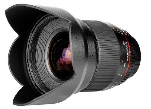 Samyang 16mm T2.2 ED AS UMC CS Canon EOS M MILC - Objetivo (MILC, 13/11, Objetivo Ultra Ancho, 0,2 m, Canon EF-M, Manual)