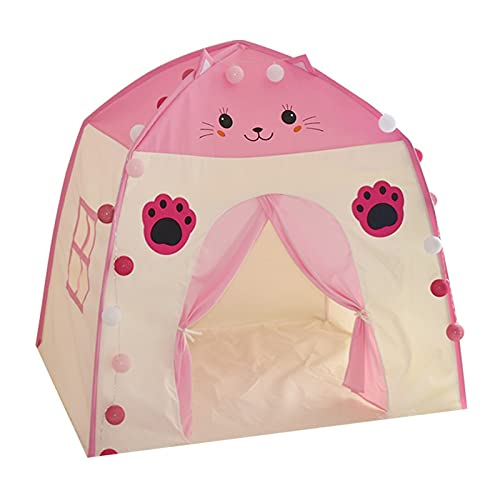 Niños Teepee Play Tent Indoor Outdoor Portable Playhouse For Girls Boys Kids Play Tent Children Fort Canopy Canopy Play Tienda (Color : P)