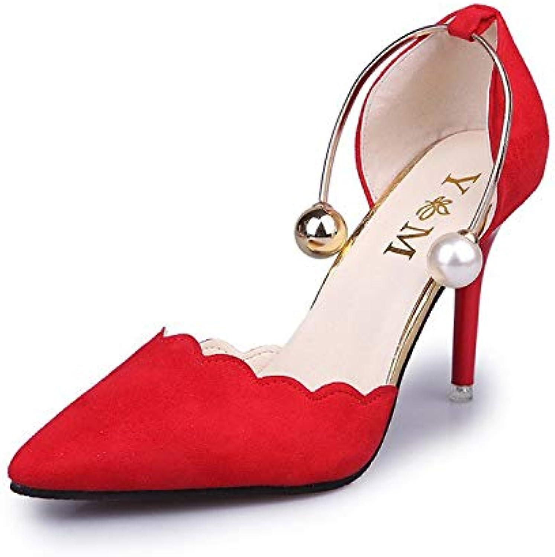 ProDIgal Women's Pointed Toe Strappy High Heel Pumps Stilettos Sandals