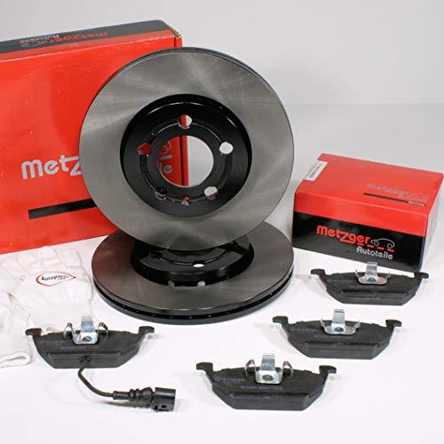 Autoparts-Online Set 60014980 Metzger Bremsscheiben 1KK Bremsen Bremsbeläge für hinten die Hinterachse