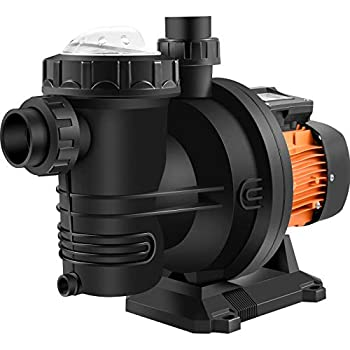 Happybuy Pool Pump in ground 48VDC Swimming Pool Pump 75GPM Solar Water Pump with MPPT Controller In Ground Swimming Pool Pump with Strainer Basket Brushless Motor Suitable for Salt Water Water Park