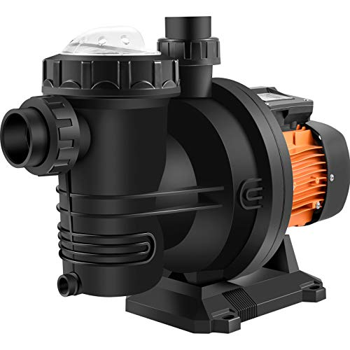 Happybuy pool pump in ground 72VDC swimming pool pump 92GPM Solar Water Pump with MPPT Controller In Ground Swimming Pool Pump with Strainer Basket Brushless Motor Suitable for Salt Water Water Park