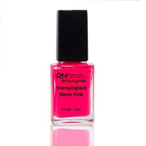 Stampinglack Neon Pink 12ml Stamping Lack Nagellack Nail Polish RM Beautynails