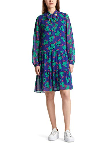 Marc Cain Additions Damen MA 21.09 W04 Kleid, Mehrfarbig (Blue Violet 751), 38 (Herstellergröße: 3)