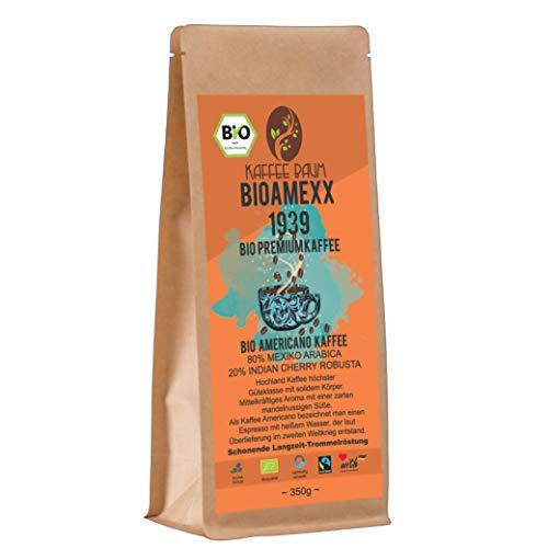 BIOAMEXX 1939 von Kaffeebaum | BIO Americano Kaffee | Arabica | Indian Cherry Robusta | BIO-Kaffee | Kaffeegenuss aus Mexiko und Indien | Kaffee gemahlen 650g | BIO-Qualität