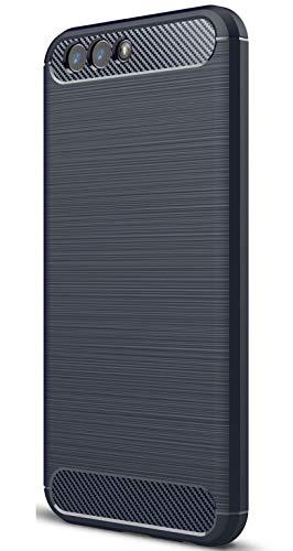 XINFENGDI Asus Zenfone 4 ZE554KL Hülle, Tasche mit Stoßdämpfung Robuste TPU Stylisch Karbon Design Handyhülle Hülle Hülle für Asus Zenfone 4 ZE554KL - Blau
