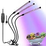 FEE-ZC Luz de Cultivo LED para Plantas de Interior, Luces de Cultivo de 7w, lámpara de fitografía hidropónica de Espectro Completo para Flores, Vegetales, plántulas, Planta de Invernadero