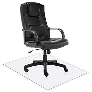 VBARV Protector Transparente para Pisos Duros, Alfombrilla de policarbonato Resistente para sillas de Oficina para Pisos de Madera, Rectangular, Antideslizante, fácil de Limpiar, Varios tamaños