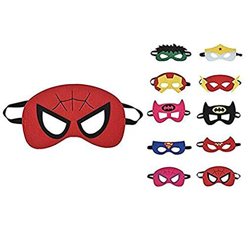thematys Kinder-Masken Superhelden Maske 10er Set - perfekt für Geburtstag Karneval & Fasching - Kostüm für Kinder - Einheitsgröße