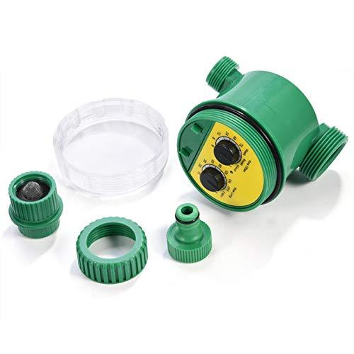 Cosiki Temporizador de riego, PVC, Respetuoso con el Medio Ambiente, Materiales plásticos Impermeables, Temporizador de riego para jardín, fácil de Montar, césped multifunción para