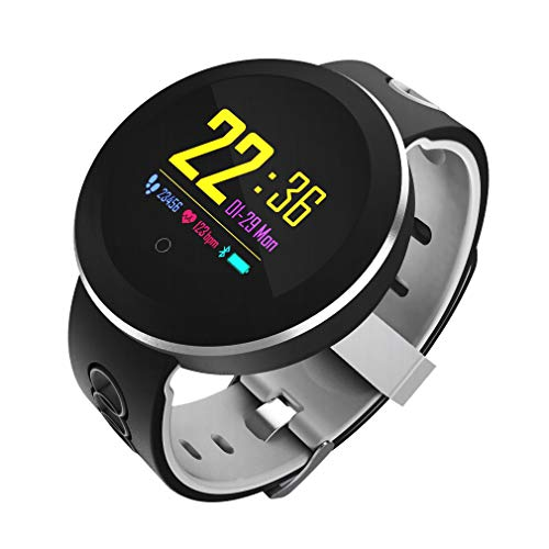 AURSEN Fitness Tracker,IP68 Waterproof Smart Activity Tracker Watch with Heart Rate Monitor,Sleep Monitor,Pedometer,Weather Forecast,Calls/SMS Remind for iOS Android Smartphone