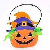 Festival de Fantasmas de Halloween Candy Can Bar Accesorios de decoración Luz de Calabaza Cubo de Calabaza Luz con Sonido Sin luz Sin Sombrero de Bruja púrpura Cubo de Calabaza