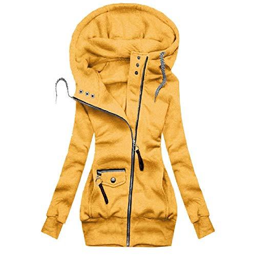 Chaqueta de mujer para mujer con capucha y cordón de costura sólida para mujer