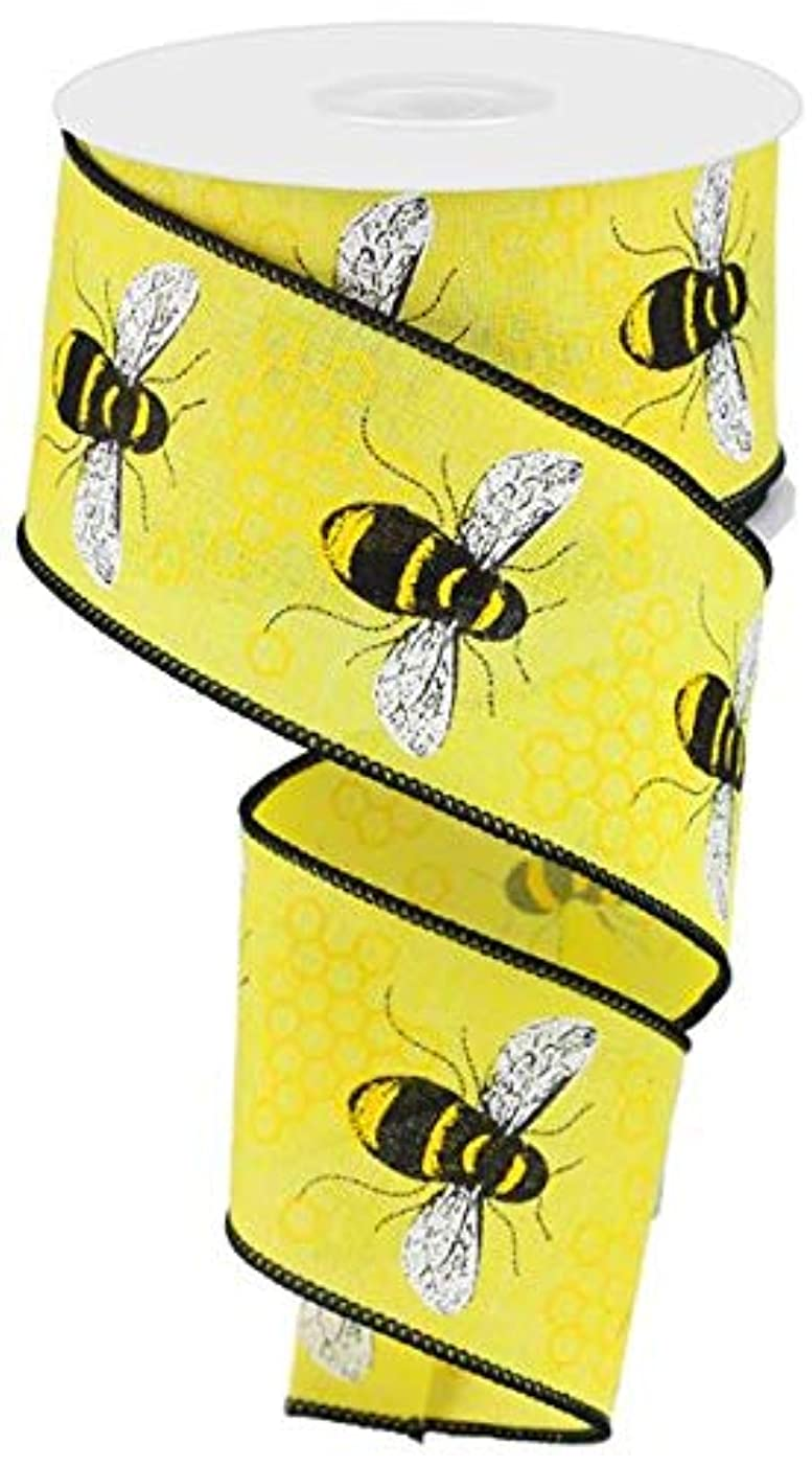 Craig Bachman Honey Bee Canvas Wired Ribbon 2.5