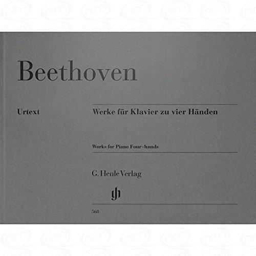 WERKE FUER KLAVIER ZU 4 HAENDEN - arrangiert für Klavier 4händig [Noten/Sheetmusic] Komponist : BEETHOVEN LUDWIG VAN