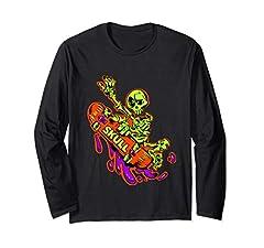 Skateboarding-Clothing,longsleeve,skate,skull-board,skateboarder,oldschool,shirts,hip-hop,underground,independent,skull,skate-contest,fun-sport,extreme,crazy,mad,cool,party,street-surfing,sport,graffiti,Black,Love-park,festival,Slides Skateboard Skel...