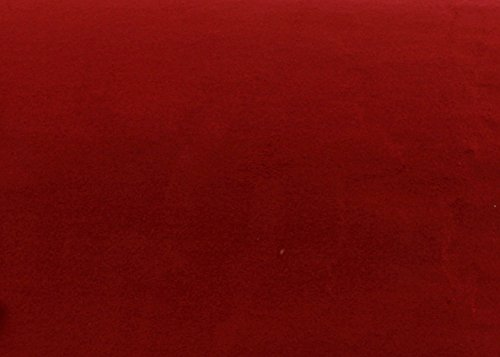 Magic-fix Peel & Stick Suede Look Pre-Pasted Fabric Shelf Liner Adhesive-Backed Suede Wallpaper (Dark Red : 19.68 inch X 57.08 inch)