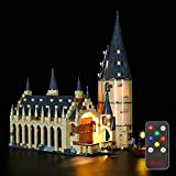 BRIKSMAX Led Lighting Kit for Harry Potter Hogwarts Great Hall (Upgrade Version) - Compatible with Lego 75954 Building Blocks Model- Not Include The Lego Set