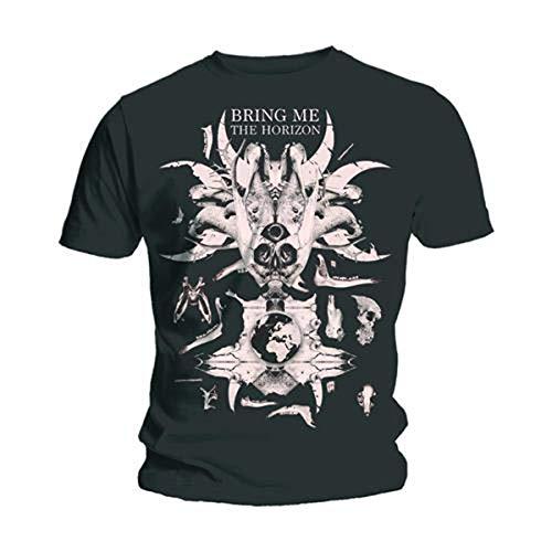 Bravado Herren T-Shirt Bring Me The Horizon - Skull And Bones, Schwarz, L