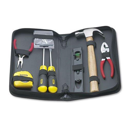 Kit de herramientas de reparación general de 8 piezas en estuche resistente al agua negro con cremallera