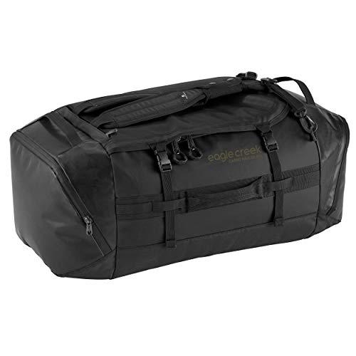 Cargo Hauler - superleichte Reisetasche mit 90 L Volumen I Robuster Rucksack für Camping und Outdoor I abrieb- & wasserbeständiges Gewebe, Jet Black