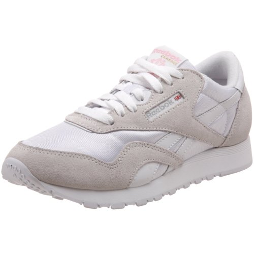 Reebok Damen CL NYLON Sneaker, Weiß (white/light Grey), 41 EU