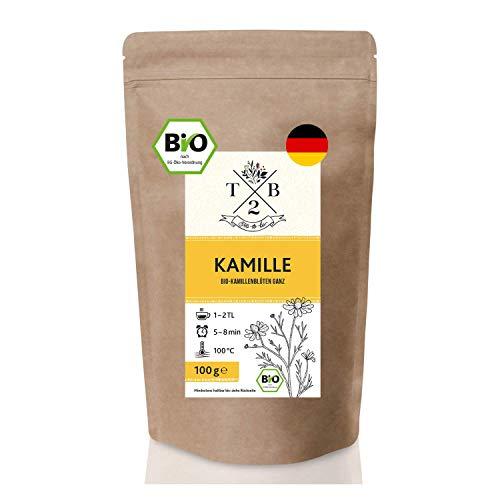BIO Kamillentee lose aus ganzen Kamillenblüten getrocknet - Kamille für Tee & Dampfbad, 100g für...