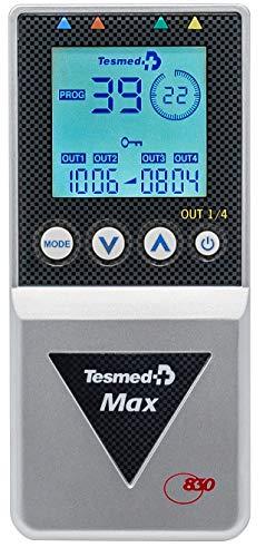 Tesmed MAX 830 con 20 elettrodi elettrostimolatore muscolare professionale : massima potenza, addominali, glutei, potenziamento muscolare, inestetismi, massaggi ,benessere