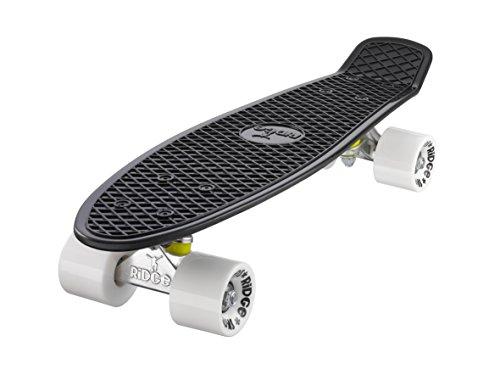 Ridge Skateboard Mini Cruiser, schwarz-weiß, 22 Zoll