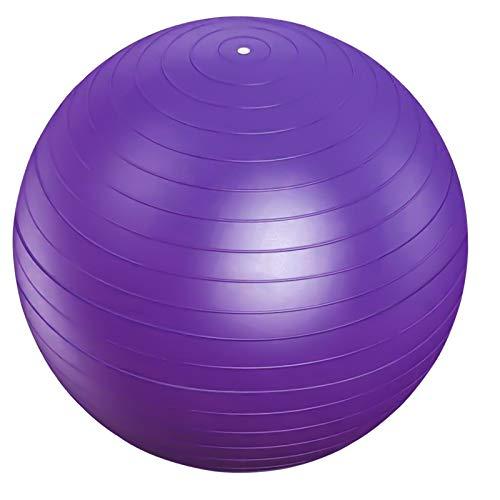 75cm Pelota de Ejercicio, Anti Explosión Pelota de Gimnasia, Fitness Balón de Bomba, Pelota de Yoga Embarazo, Fitball Pilates Pelota, Pelota de Equilibrio para Entrenamiento Deportes (Morado)