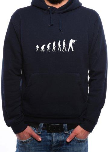 Mister Merchandise Hoodie Kapuzenpullover Evolution Gotcha Paintball Soldier, Größe: XL, Farbe: Navy